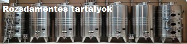 Rozsdamentes acél tartályok, tárolók, hordók gyártása egyedi igényeknek megfelelően!