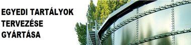 Egyedi tartályok tervezése gyártása: acél,  rozsdamentes acél, műanyag, alumínium alapanyagokból